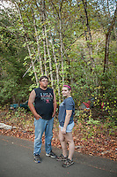 Nineteen year olds from Vallejo,  Nina Morillo and Sean Hewitt are taking off a few days to camp at Bothe-Napa Valley State Park near Calistoga.  ninamosphoto@gmail.com