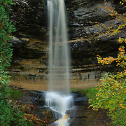 &quot;Falls at Munising&quot;<br /> <br /> Beautiful Munising Falls during the month of October with slight fall foliage just beginning!