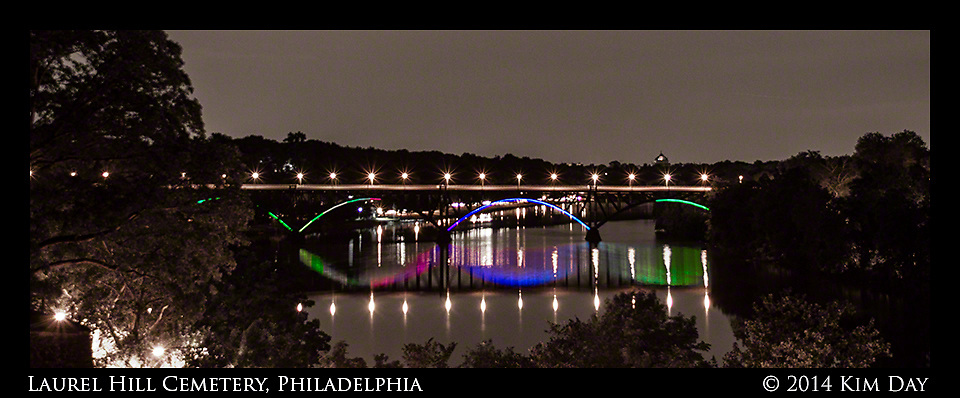 Ford Road Bridge over the Skuykill River<br /> From Laurel Hill Cemetery - Philadelphia<br /> July 2014