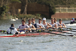 2012.02.25 Reading University Head 2012. The River Thames. Division 1. Thames Tradesmen Rowing Club IM1 8+.