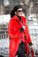 Giovanna Battaglia at Calvin Klein FW2015 - detail