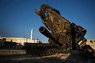 Syria. A destroyed by Free Syrian Army forces tank in Haraan.  ALESSIO ROMENZI