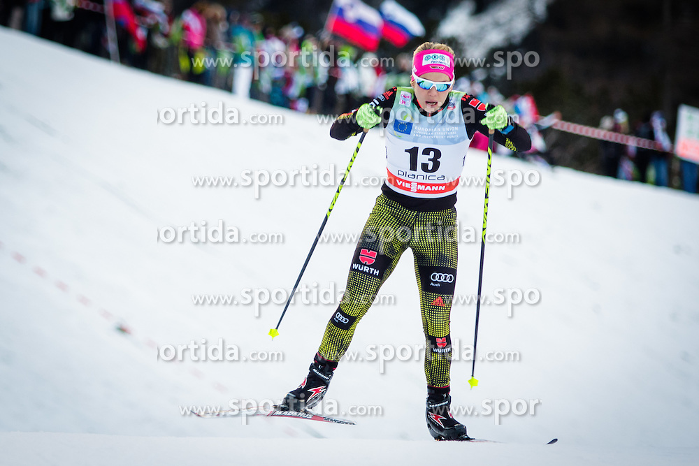 Sandra Ringwald (GER) uring Ladies 1.2 km Free Sprint Qualification race at FIS Cross<br /> Country World Cup Planica 2016, on January 16, 2016 at Planica,Slovenia. Photo by Ziga Zupan / Sportida