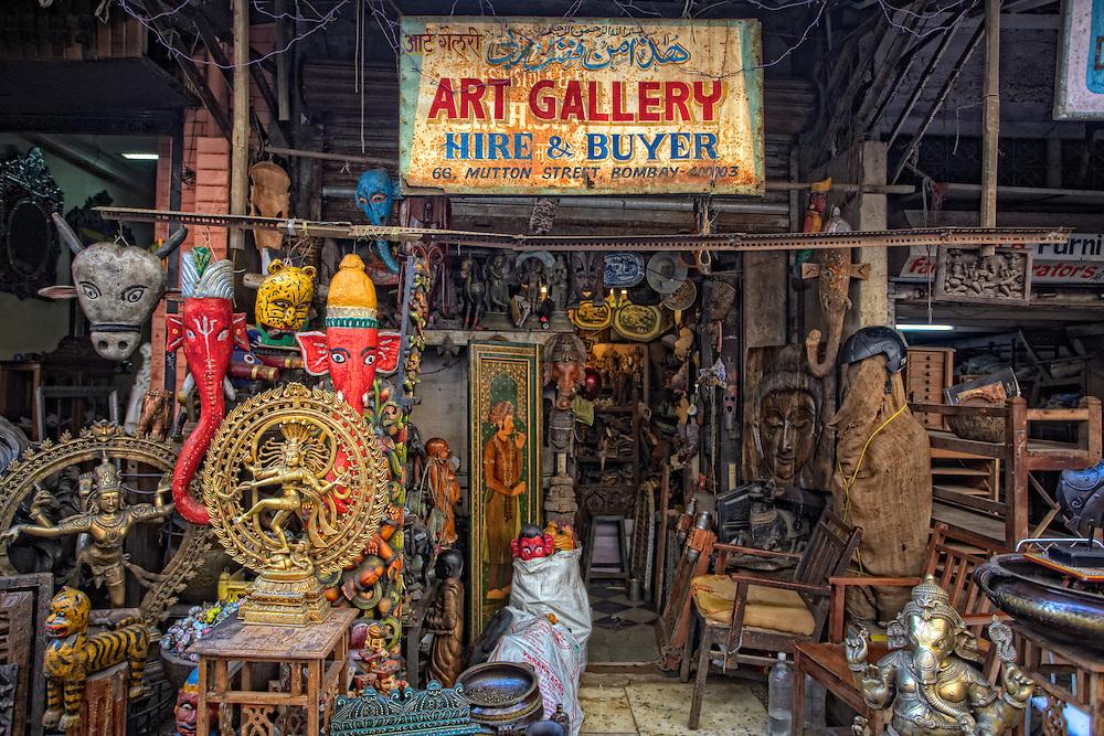 A shop at Chor Bazar in Mumbai.
