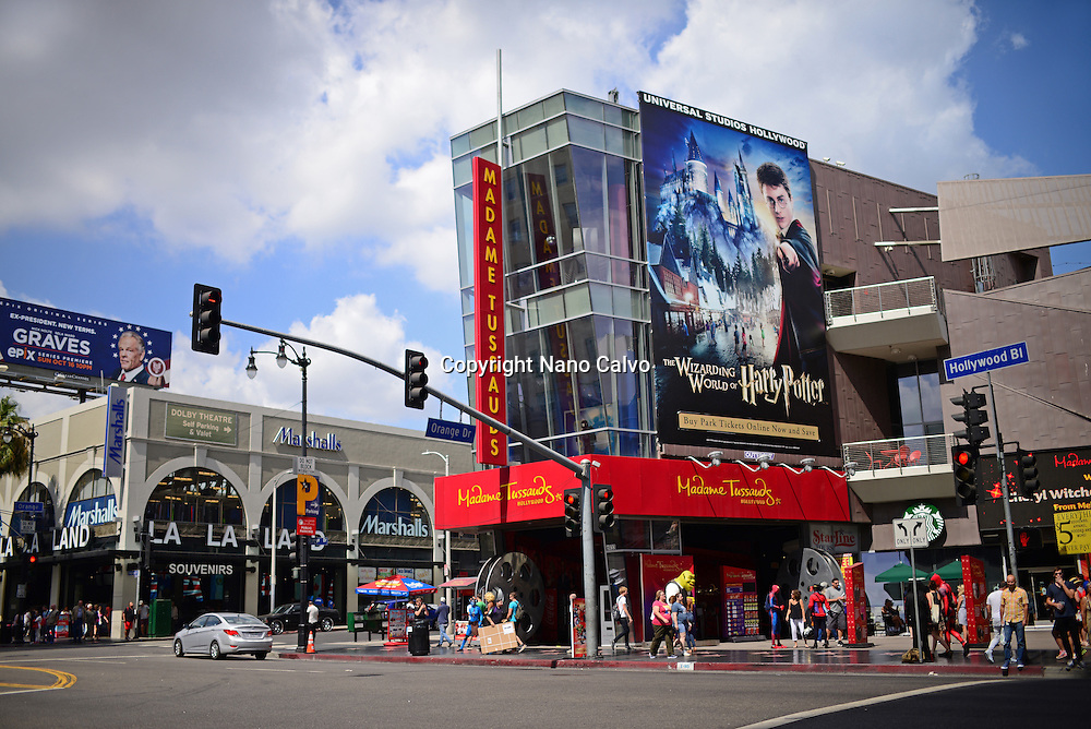 Madame Tussauds museum at Hollywood Boulevard in Los Angeles, California.