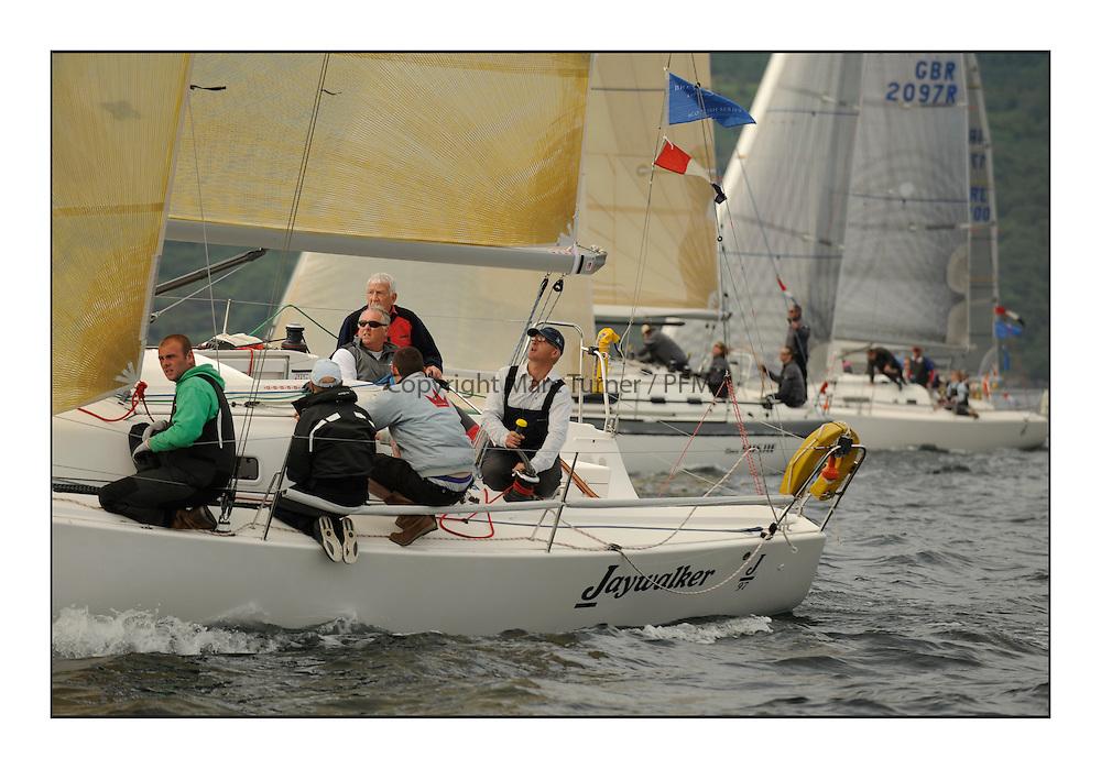 Brewin Dolphin Scottish Series 2012, Tarbert Loch Fyne - Yachting - Day 1 - Bowmore Fleet..GBR97L ,Jaywalker ,Iain Laidlaw ,0.987 ,CCC ,J97