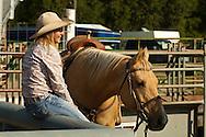 Barrel Racer, cowgirl, high school rodeo, Livingston, Montana