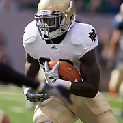 Norte Dame Senior Tailback (#20) Cierre Wood during game action at The New Giant's Stadium as Navy defeats Notre Dame 35-17 at The New Giant's Stadium in East Rutherford New Jersey