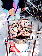 Grilled shrimp on Bai Sao (Star Beach.)