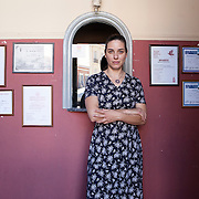 Nafplio, Greece, July 9, 2014. Christina Zoniou, Greek thater actress and director.<br />