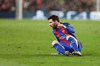 19.04.2017 - Barcellona  -  Quarti di finale  Champions League, Barcellona-Juventus , Nella foto:  Lionel Messi a terra