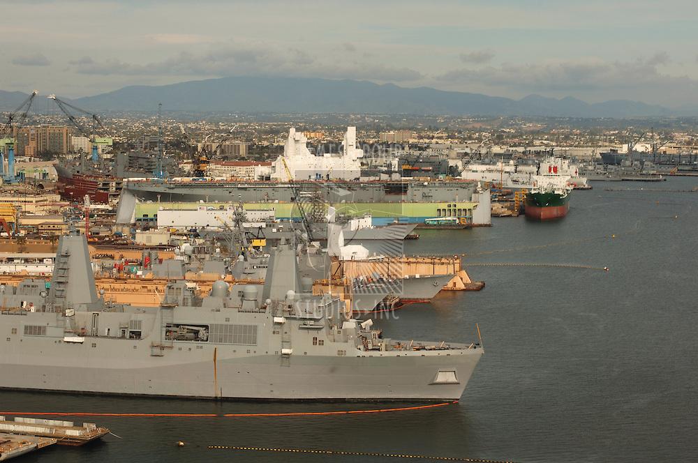 Ship yard in San Diego