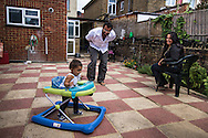 Southall, United Kingdom<br /> Gurinder and Ranj Singh watch their daughter, Riya, take her first steps