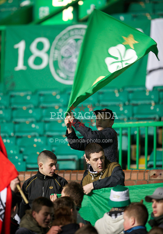 GLASGOW, SCOTLAND - Monday, November 7, 2011: Glasgow Celtic supporters during the NextGen Series Group 1 match against Manchester City at Celtic Park. (Pic by David Rawcliffe/Propaganda)