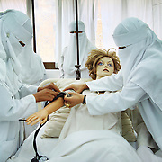 """Treatment"" by Amira Al Sharif. Nurses in  hospital in Sana'a, Yemen."