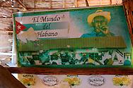 Sign at Vegas Robaina, San Luis, Pinar del Rio, Cuba.