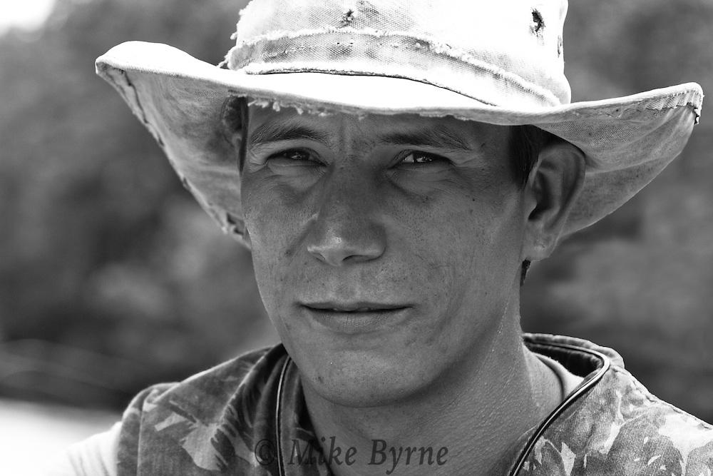 Brazilian guide in a cowboy hat.