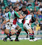Twickenham, GREAT BRITAIN,  Saracens, Adam POWELL,  running through, during the Guinness Premiership match,  Saracens vs Harlequins, at Twickenham Stadium, Surrey on Sat 06.09.2008. [Photo, Peter Spurrier/Intersport-images]