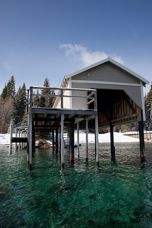 """Boat Dock on Lake Tahoe 1"" - This old boat dock was photographed on the west shore of Lake Tahoe, CA."