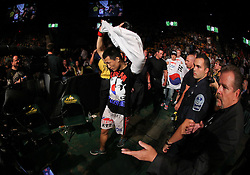 Fairfax, VA - May 15, 2012: Chan Sung Jung walks to the Octagon for his fight against Dustin Poirier during the UFC on FUEL TV 3  main event at the Patriot Center in Fairfax, Virginia.