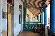 Porches in San Cristobal, Artemisa, Cuba.