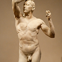 Washington DC, National Gallery. Sculpture of a naked man by Rodin