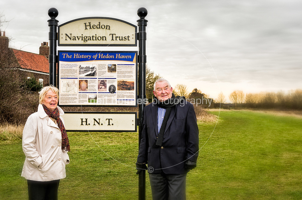 Allen Marshall seen here with his Wife Julie, is an active member of the Hedon Navigation Trust which is campaigning to restore the filled-in Haven River to its former glories. Photographed at the filled in Hedon Haven. Friday 20 January 2012