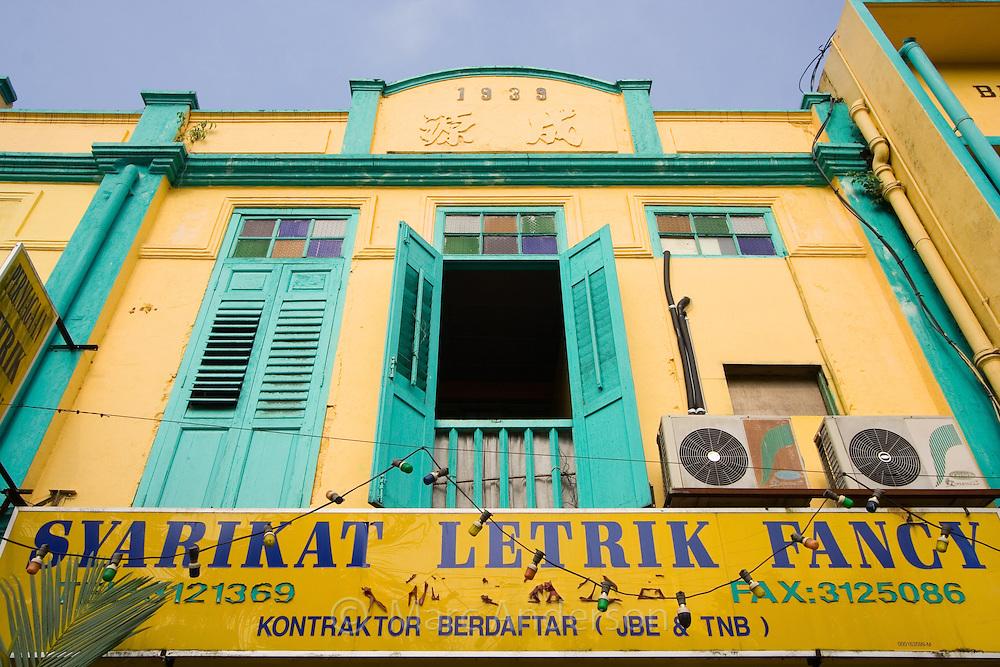 Colourful architecture in Kuala Lipis, Malaysia..