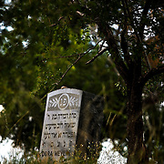 """SHOT 8/7/09 7:40:01 PM -  The Golden Hill Cemetery, one of the few sites along Colfax on the National Register of Historic Places, is the final home to more than 2,000 people who died of tuberculosis in the early 1900s. The Jewish cemetery, 12000 W. Colfax, has more than 8,000 gravestones. Colfax Avenue is the main street that runs east and west through the Denver-Aurora metropolitan area in Colorado. As U.S. Highway 40, it was one of two principal highways serving Denver before the Interstate Highway System was constructed. In the local street system, it lies 15 blocks north of the zero point (Ellsworth Avenue, one block south of 1st Avenue). For that reason it would normally be known as """"15th Avenue"""" but the street was named for the 19th-century politician Schuyler Colfax. On the east it passes through the city of Aurora, then Denver, and on the west, through Lakewood and the southern part of Golden. Colloquially, the arterial is referred to simply as """"Colfax"""", a name that has become associated with prostitution, crime, and a dense concentration of liquor stores and inexpensive bars. Playboy magazine once called Colfax """"the longest, wickedest street in America."""" However, such activities are actually isolated to short stretches of the 26-mile (42 km) length of the street. Periodically, Colfax undergoes redevelopment by the municipalities along its course that bring in new housing, trendy businesses and restaurants. Some say that these new developments detract from the character of Colfax, while others worry that they cause gentrification and bring increased traffic to the area. (Photo by Marc Piscotty / © 2009)"""
