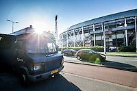 ROTTERDAM - Feyenoord - FC Utrecht , Voetbal , Seizoen 2015/2016 , Eredivisie , Stadion de Kuip , 08-08-2015 , ME bus voor Stadion de Kuip