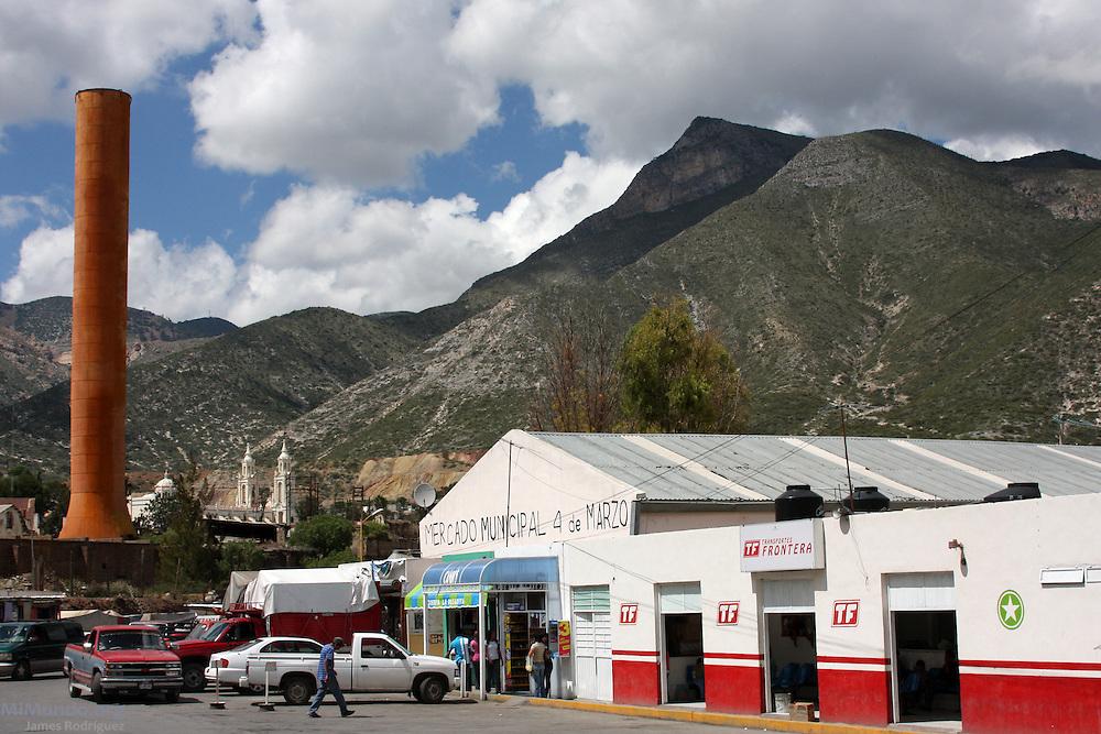 Panorama of the 4 de Marzo Municipal Market in Concepción de Oro, a traditional mining town in Zacatecas. Concepción de Oro, Zacatecas, México. October 3, 2009.