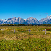 Grand Tetons Mountain Range in the Grand Tetons National Park in Wyoming.