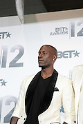 June 30, 2012-Los Angeles, CA : Recording Artist Tyrese attends the 2012 BET Awards- Media Room held at the Shrine Auditorium on July 1, 2012 in Los Angeles. The BET Awards were established in 2001 by the Black Entertainment Television network to celebrate African Americans and other minorities in music, acting, sports, and other fields of entertainment over the past year. The awards are presented annually, and they are broadcast live on BET. (Photo by Terrence Jennings)