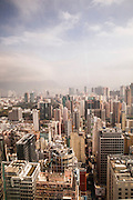 View toward Hong Kong island from the Langham Place Hotel, Hong Kong