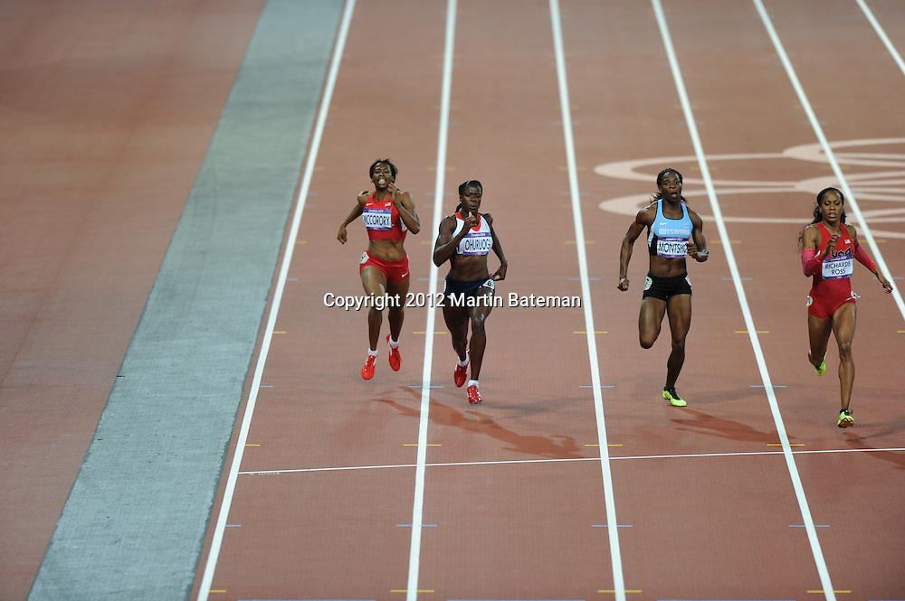 Christine Ohuruogu competes at London 2012