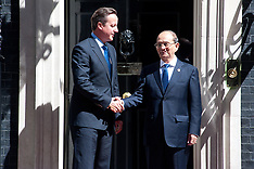 JULY 15 2013 David Cameron meets President Thein Sein of Burma