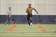 Mississippi football player Cordera Eason at Pro Day in the IPF in Oxford, Miss. on Tuesday, March 23, 2010.