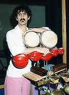 Frank Zappa 1982 in his Laurel Canyon home studio.<br /> &copy; Chris Walter