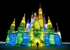 Images of the Harbin Ice Festival 2009