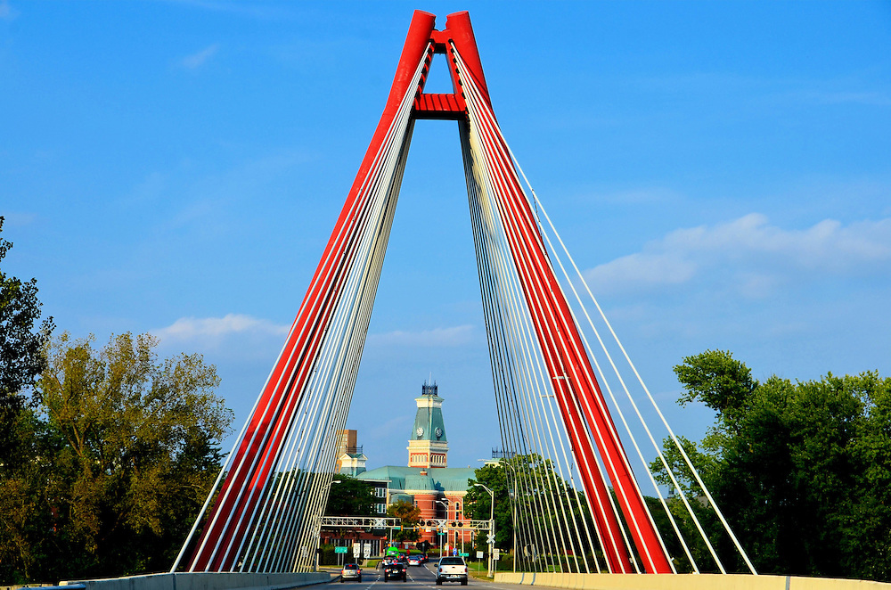 Robert N. Stewart Second Street Bridge in Columbus, Indiana<br />