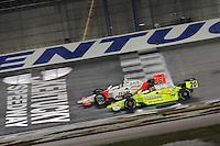 Ryan Briscoe. Ed Carpenter, Meijer Indy 300, Kentucky Speedway, Sparta, KY 010809 09IRL12