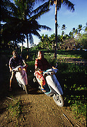 Motorcycling, Aitutaki, Cook islands<br />