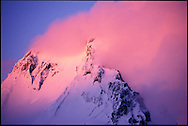 Mt. Garibaldi at sunset as a winter storm clears.