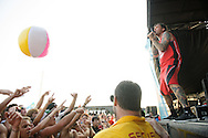 New Found Glory performing at Warped Tour at the Verizon Wireless Amphitheater in St. Louis on July 5, 2012.