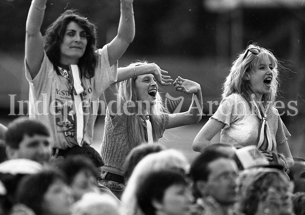 Fans at the Rod Stewart concert in the RDS Arena, Dublin, 21/07/1995 (Part of the Indeoendent Newspapers Ireland/NLI Collection).