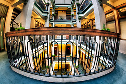 The interior of the Scarritt Arcade in downtown Kansas City, Missouri - a restored structure on the National Register of Historic Places.