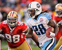 Tennessee Titans vs. San Francisco 49'ners at Candlestick Park in San Francisco, California on November 8, 2009.