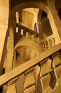 France, Languedoc roussillon, Gard (30), Uzès, hotel particulier de Joubert, escalier