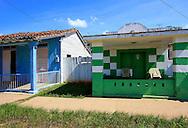 Colorful houses in Puerto Esperanza, Pinar del Rio, Cuba.