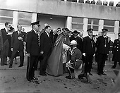 1961 - Papal Legate Cardinal James Francis McIntyre from Los Angeles arrives at Dublin Airport